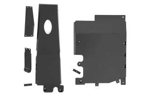Body Armor & Sliders - Skid Plates - Rough Country - Jeep Engine + Transfer Case Skid Plate System (18-19 JL Unlimited, 3.6L) - 10616