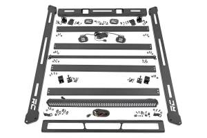 Roof/Luggage Racks - Roof Racks - Rough Country - Jeep Roof Rack System w/ Black-Series LED Lights (18-20 JL) - 10622