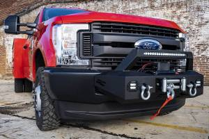 Winch & Recovery - Winch Accessories - Rough Country - EXO Winch Mount System (17-20 Ford F-250 / F-350) - 51004