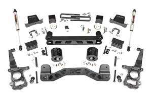 """Rough Country 6"""" 2015-2020 Ford F-150 2WD Lift Kit with V2 Monotube Shocks 55370"""