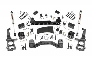 """Rough Country 4"""" 2015-2020 Ford F-150 4WD Lift Kit with V2 Monotube Shocks 55570"""