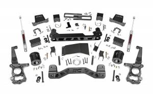 """Rough Country 6"""" 2015-2020 Ford F-150 4WD Lift Kit with N3 Shocks 55730"""