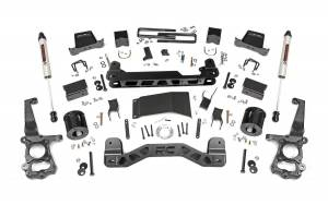 """Rough Country 6"""" 2015-2020 Ford F-150 4WD Lift Kit with V2 Monotube Shocks 55770"""