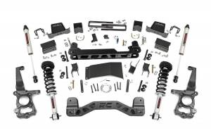 """Rough Country 6"""" 2015-2020 Ford F-150 4WD Lift Kit with Lifted Struts and V2 Monotube Shocks 55771"""