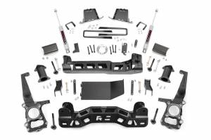 """Rough Country 4"""" 2011-2014 Ford F-150 4WD Lift Kit with N3 Shocks 57430"""
