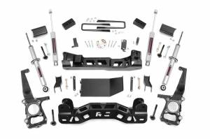 """Rough Country 4"""" 2014 Ford F-150 4WD Lift Kit with Lifted Struts and N3 Shocks 57431"""