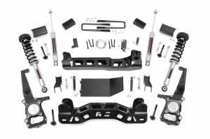"""Rough Country 4"""" 2011-2013 Ford F-150 4WD Lift Kit with Lifted Struts and N3 Shocks 57432"""