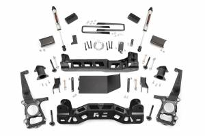"""Rough Country 4"""" 2011-2014 Ford F-150 4WD Lift Kit with V2 Monotube Shocks 57470"""
