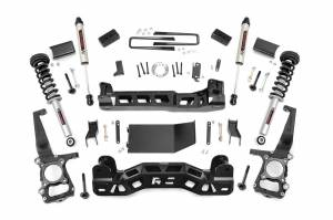 """Rough Country 4"""" 2011-2014 Ford F-150 4WD Lift Kit with Lifted Struts and V2 Monotube Shocks 57471"""