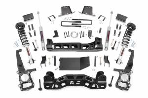 """Rough Country 6"""" 2014 Ford F-150 4WD Lift Kit with Lifted Struts and N3 Shocks 57531"""