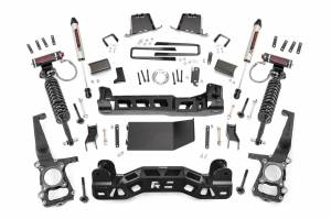"""Rough Country 6"""" 2014 Ford F-150 4WD Lift Kit with Vertex Adjustable Coilovers and V2 Monotube Shocks 57557"""