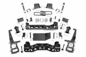 """Rough Country 6"""" 2011-2014 Ford F-150 4WD Lift Kit with V2 Monotube Shocks 57570"""