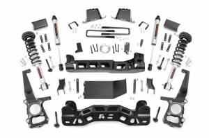 """Rough Country 6"""" 2014 Ford F-150 4WD Lift Kit with Lifted Struts and V2 Monotube Shocks 57571"""