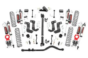 Rough Country - 3.5in Jeep Susp Lift Kit, Stg 2, Coils & Cntrl Arm Drop (18-20 Wrangler JL-2Dr) - 62750