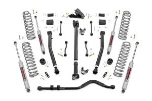 Rough Country - 3.5in Jeep Susp Lift Kit, Stg 2 Coils & Adj Cntrl Arms (18-20 Wrangler JL-2Dr) - 62830