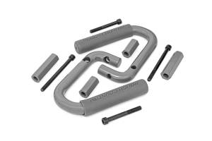 Interior - Grab Handles - Rough Country - Jeep Front Solid Steel Grab Handles (07-18 Wrangler JK, Gray) - 6501GRAY