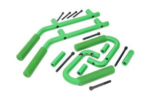 Interior - Grab Handles - Rough Country - Jeep Solid Steel Grab Handle Set (07-18 Wrangler JK, Green) - 6503GREEN