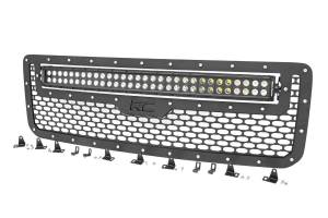 Lighting - Off Road Lights - Rough Country - GMC Mesh Grille w/30in Dual Row Black Series LED (15-19 Canyon) - 70219