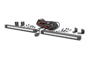 Rough Country - 10-Inch Slimline CREE LED Light Bars (Pair, Chrome Series) - 70410