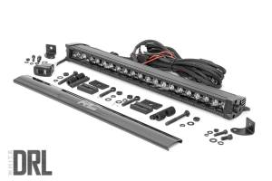 Rough Country - 20-inch Cree LED Light Bar - (Single Row, Black Series w/ Cool White DRL) - 70720BLDRL