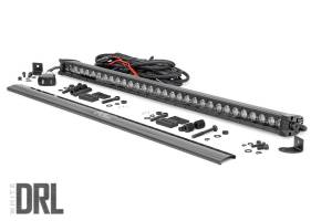 Rough Country - 30-inch Cree LED Light Bar - (Single Row, Black Series w/ Cool White DRL) - 70730BLDRL