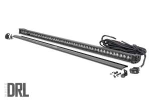 Rough Country - 50-inch Straight Cree LED Light Bar - (1-Row, Black Series w/ Cool White DRL) - 70750BLDRL