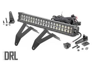 Lighting - Grille Light Kits - Rough Country - Dodge 20in LED Bumper Kit, Black Series w/ Cool White DRL (19-20 RAM 1500) - 70779DRL