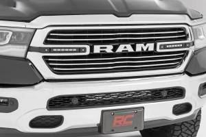 Lighting - Grille Light Kits - Rough Country - Dodge Dual 6in LED Grille Kit, Black Series (19-20 RAM 1500) - 70783