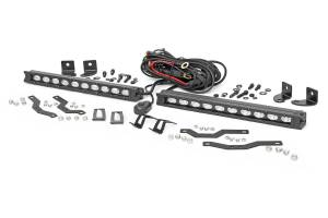 Lighting - Grille Light Kits - Rough Country - Ford Dual 10in LED Black Series Grille Kit (18-20 F-150, XLT) - 70808
