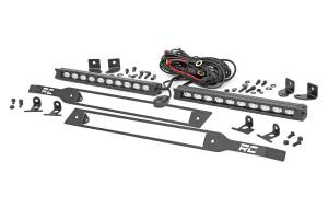 Lighting - Grille Light Kits - Rough Country - Chevy Dual 10in LED Grille Kit, Black Series (19-20 Silverado 1500) - 70817