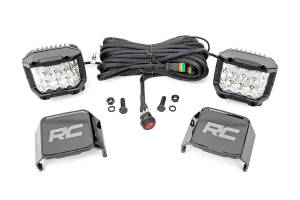 Rough Country - 3-inch Wide Angle OSRAM LED Lights - (Pair) - 70904
