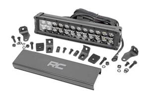 Rough Country - 12-inch Cree LED Light Bar - (Dual Row, Black Series w/ Cool White DRL) - 70912BD