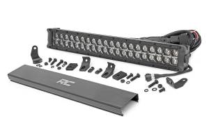 Rough Country - 20-inch Cree LED Light Bar - (Dual Row, Black Series w/ Cool White DRL) - 70920BD