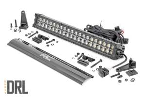 Rough Country - 20-inch Cree LED Light Bar - (Dual Row, Black Series w/ Amber DRL) - 70920BLKDRLA