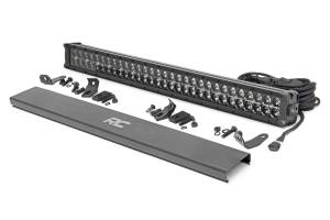 Rough Country - 30-inch Cree LED Light Bar - (Dual Row, Black Series w/ Cool White DRL) - 70930BD