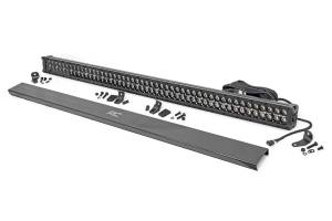 Rough Country - 50-inch Cree LED Light Bar - (Dual Row, Black Series w/ Amber DRL) - 70950BDA