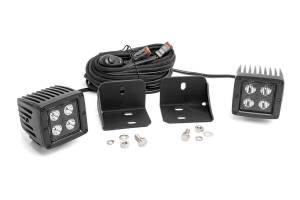 Lighting - Interior Lights - Rough Country - Can-Am Defender Rear Facing 2-inch Black-Series LED Kit (16-20 Defender) - 71011