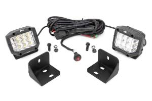 Lighting - Interior Lights - Rough Country - Can-Am Defender Rear Facing 3-inch Chrome Series LED Kit (16-20 Defender) - 71024