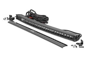 Light Bars - Light Bars - Rough Country - 30-inch Curved Cree LED Light Bar - (Single Row, Black Series w/ Cool White DRL) - 72730BLDRL