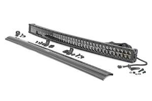 Rough Country - 40-inch Curved Cree LED Light Bar - (Dual Row, Black Series w/ Cool White DRL) - 72940BD