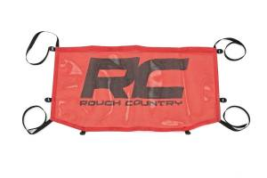 Jeep Tops & Parts - Soft Tops - Rough Country - Jeep Wrangler JL Mesh Bikini Top (18-20, Red) - 85113