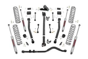 Rough Country - 3.5in Jeep Susp Lft Kt, Stg 2 Coil&Adj Cntrl Arms (18-20 Wrnglr JL Rubicon-2Dr) - 90930