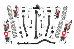 Rough Country - 3.5in Jeep Susp Lft Kt, Stg 2 Coil&Adj Cntrl Arms (18-20 Wrnglr JL Rubicon-2Dr) - 90950