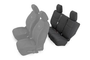 Interior - Seat Covers - Rough Country - Jeep Neoprene Rear Seat Cover, Black (13-18 Wrangler JK Unlimited) - 91004R