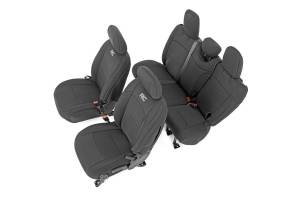 Interior - Seat Covers - Rough Country - Jeep Neoprene Seat Cover Set, Black (18-20 Wrangler JL Unlimited) - 91010