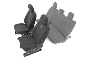 Interior - Seat Covers - Rough Country - Ford Neoprene Front Seat Cover, Black (15-20 F-150 XL, XLT) - 91016