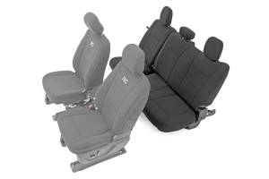 Interior - Seat Covers - Rough Country - Ford Neoprene Rear Seat Cover, Black (15-20 F-150 XL, XLT) - 91017