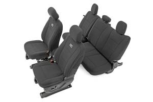 Interior - Seat Covers - Rough Country - Ford Neoprene Front & Rear Seat Cover, Black (15-20 F-150 XL, XLT) - 91018