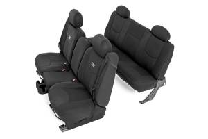 Interior - Seat Covers - Rough Country - GM Neoprene Front & Rear Seat Cover Combo, Black (99-06 Chevy 1500) - 91019