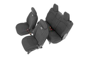 Interior - Seat Covers - Rough Country - Jeep Neoprene Seat Cover Set, Black (18-20 Wrangler JL) - 91020